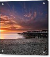 The Crystal Pier Acrylic Print by Larry Marshall