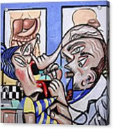 The Cubist Doctor Md Acrylic Print