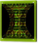 The Curtain - Green Acrylic Print