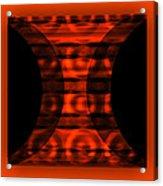 The Curtain - Orange  Acrylic Print