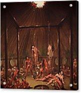 The Cutting Scene Mandan O-kee-pa Acrylic Print