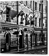 The Czech Inn - Dublin Ireland In Black And White Acrylic Print