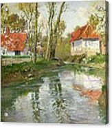 The Dairy At Quimperle Acrylic Print by Fritz Thaulow