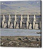 The Dalles Dam Along Columbia River Acrylic Print