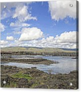 The Dalles Dam And Bridge Across Columbia River Acrylic Print