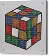 The Dammed Cube Acrylic Print