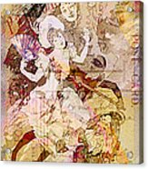 The Dancer And The Pierrot Acrylic Print