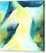 The Dancer Acrylic Print by Hilda Lechuga