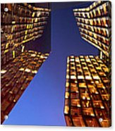 The Dancing Towers Acrylic Print by Marc Huebner