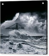 The Dark Storm Acrylic Print by Boon Mee