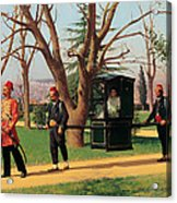 The Daughter Of The English Ambassador Riding In A Palanquin Acrylic Print
