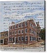The David Wills House 1816 Acrylic Print