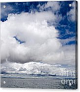 Cloudscape Over Lake Titicaca Peru Acrylic Print