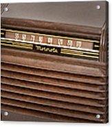 The Days Of Radio Acrylic Print