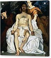 The Dead Christ And Angels Acrylic Print by Edouard Manet
