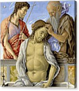 The Dead Christ Supported By Saints Acrylic Print