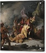 The Death Of General Montgomery In The Attack On Quebec, December 31, 1775, 1786 Oil On Canvas Acrylic Print