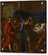 The Death Of Germanicus Acrylic Print by Nicolas Poussin
