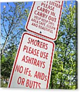 The Death Of The Messy Smoking Fisherman Acrylic Print