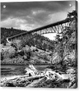 The Deception Pass Bridge II Bw Acrylic Print