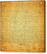 The Declaration Of Independence - America's Founding Document Acrylic Print