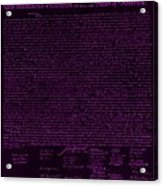 The Declaration Of Independence In Negative Purple Acrylic Print