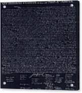 The Declaration Of Independence In Negative  Acrylic Print