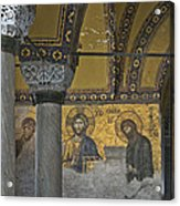 The Deesis Mosaic At Hagia Sophia Acrylic Print