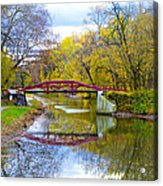The Delaware Canal Near New Hope Pa In Autumn Acrylic Print