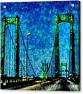 The Delaware Memorial Bridge Acrylic Print by Angelina Vick