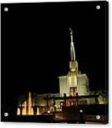 The Denver Temple At Night 3 Acrylic Print