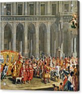The Departure Of Alois Thomas Von Harrach, Viceroy Of Naples 1669-1742 From The Palazzo Reale Di Acrylic Print