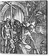 The Descent Of Christ Into Limbo Acrylic Print by Albrecht Duerer