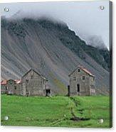 The Deserted Farm Horn In Iceland Acrylic Print