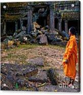 The Destruction Of Ta Prohm Acrylic Print by Pete Reynolds