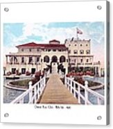 The Detroit Boat Club - Belle Isle - 1910 Acrylic Print