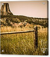 The Devils Tower Acrylic Print