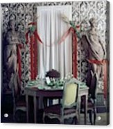 The Dining Room In James A. Beard's Home Acrylic Print