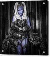 The Diva Blue Acrylic Print