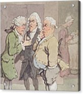 The Doctors Consultation, 1815-1820 Pen And Ink And Wc Over Graphite On Paper Acrylic Print