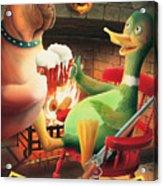 The Dog & Duck Acrylic Print