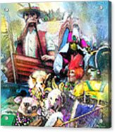 The Dogs Parade In New Orleans Acrylic Print