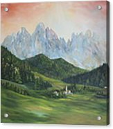 The Dolomites Italy Acrylic Print by Jean Walker
