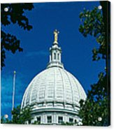 The Dome Of The Wisconsin State Capitol Acrylic Print
