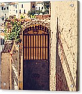 The Door With Overview Of Ronda Acrylic Print