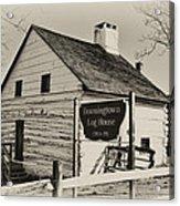 The Downingtown Log House  Acrylic Print