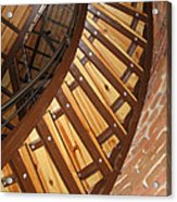 The Downside Of Spiral Stairs Acrylic Print