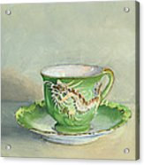 The Dragon Teacup Acrylic Print