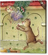 The Dream Cat 16 Acrylic Print by Kestutis Kasparavicius