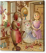The Dream Cat 19 Acrylic Print by Kestutis Kasparavicius